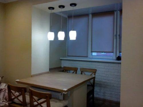 Объединили лоджию и кухню 9 кв.м. Что из этого получилось? — Дом. Ремонт. Дизайн