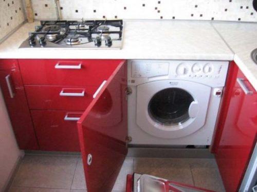 Почему нельзя устанавливать стиральную машину в кухонном гарнитуре