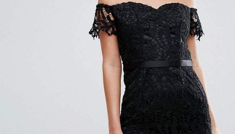 Шикарное чёрное кружево — эффектная деталь стильного платья