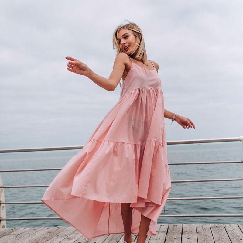 Пудровое платье фото 6
