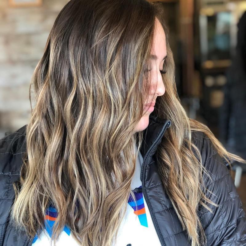 окрашивание тёмно-каштановых волос фото 8