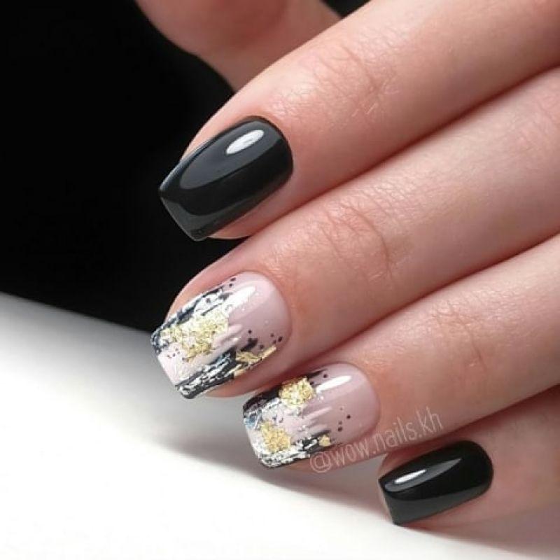 короткие темные ногти_10
