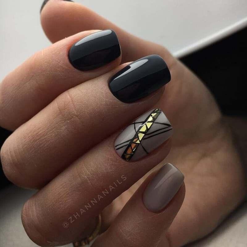 короткие темные ногти_3