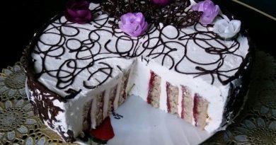 Домашний муссовый торт с вертикальными коржами