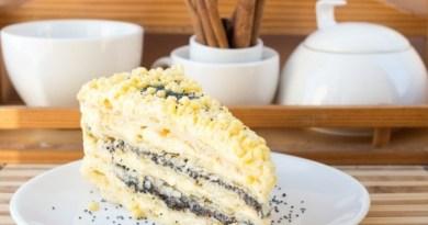 Как приготовить торт с маковыми коржами