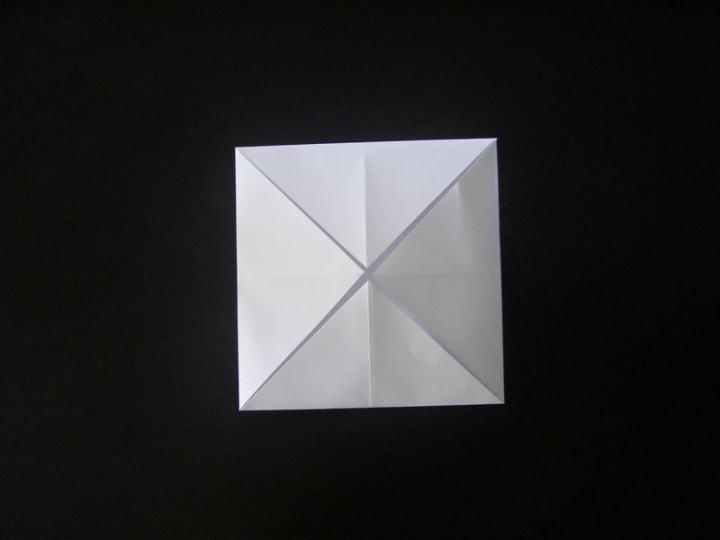 Квадрат со сложенными углами