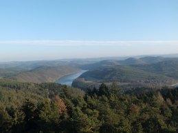 Kaňon Vltavy (zčásti zaplavený vodami Slapské přehrady)