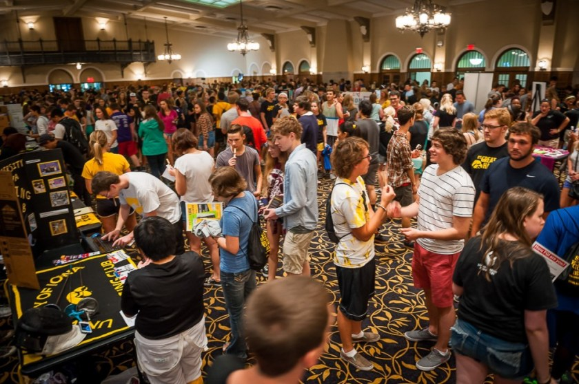 Image result for university of iowa student organization fair