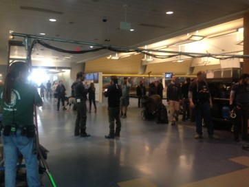 News of movie filming kept under wraps for security reasons. Photo courtesy of Gerald R. Ford International Airport