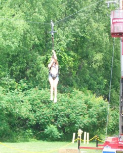 The Zip Line was not for the faint of heart.