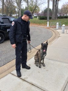 Eric Toonstra and his Dutch Shepard named 'Dutch'