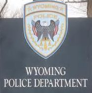 wyoming police dept sign