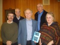 L to R: Frank Lynn,  Jim Muller, Vern Hoffman, Lou Haveman, Martie Jager