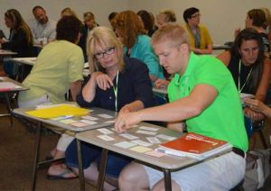 """Teachers match gender and sexual orientation terms to their definitions during the workshops, """"Understanding and Supporting LGBTQ Students"""" (Courtesy of SNN)"""