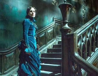 Spooky, Scary Jessica Chastain in Guillermo del Toro's gothic chiller, CRIMSON PEAK.