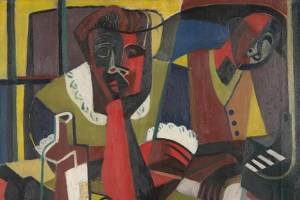 Charles Henry Alston, Untitled (Couple), 1945-50, oil on canvas, Kalamazoo Institute of Arts
