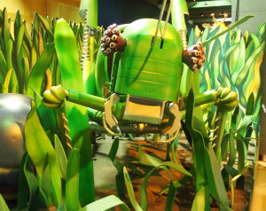 "The grasshopper from ""The Robot Zoo"" at the Grand Rapids Public Museum."