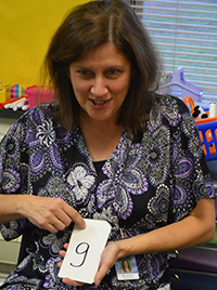 West Kelloggsville Reading Intervention Specialist Suzanne Schmier uses many different methods and tools to teach reading