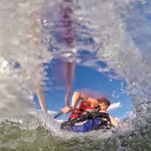 An action shot from Garrett Bazany's GoPro camera.