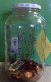 Students raised money for Kids Food Basket by collecting pennies