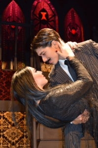 Ansleigh Hamilton as Morticia and Pablo Marcos as Gomez.