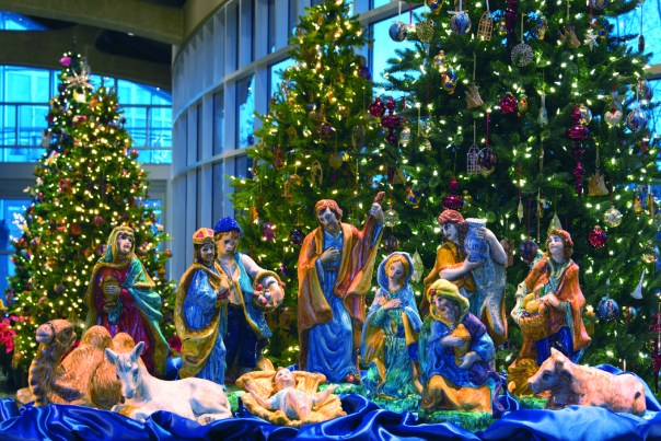 A nativity scene from Italy is part of the Meijer Gardens holiday display. (supplied)