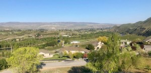 View of Wenatchee during the Wine Social