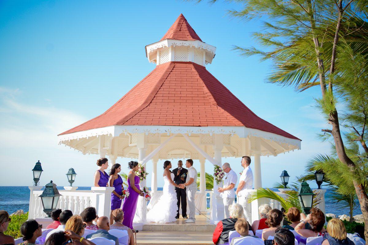 Stasha  Graham at the Grand Bahia Jamaica  Now Destination Weddings