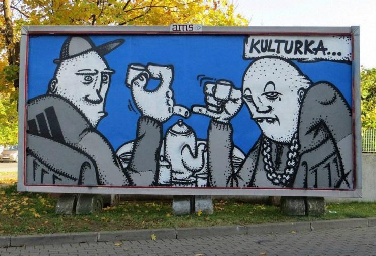 Gdańsk, Billboard zrealizowany w ramach projektu PC Drama w Klubie Żak, 2012.