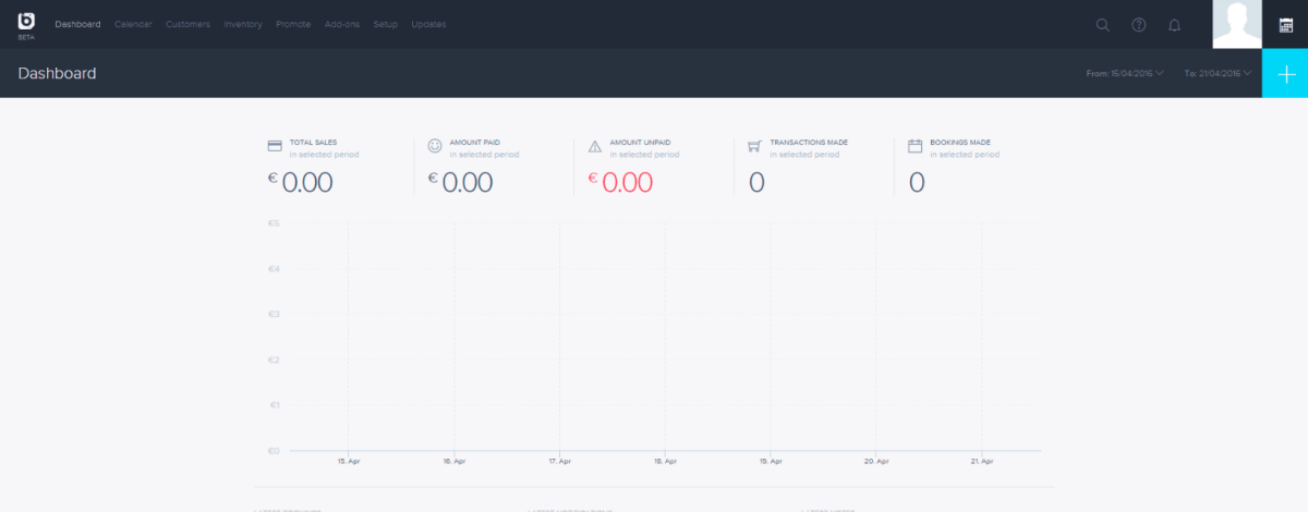 I liked Bookify's dashboard; the options I wanted were all available with one click.