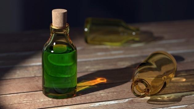 Escape room ideas: mysterious bottles of liquid