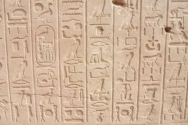 Escape room ideas: hieroglyphics