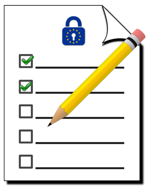 Here's a list of action steps to help you get ready for GDPR.