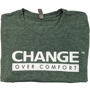 Change Over Comfort Pine Green Tee
