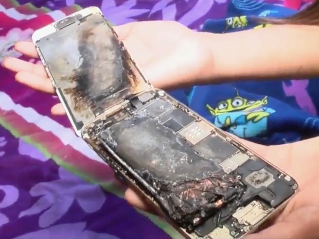 Esploso un iPhone 6 di una ragazzina