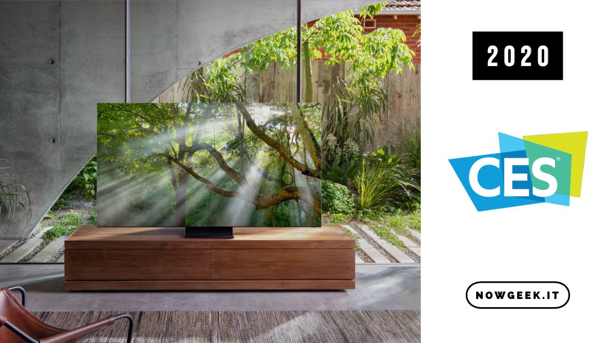 Samsung presenta le nuove versioni delle TV 8K al CES 2020
