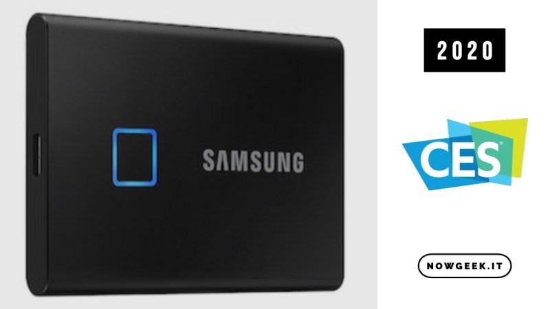 Il nuovo SSD Portatile T7 Touch di Samsung