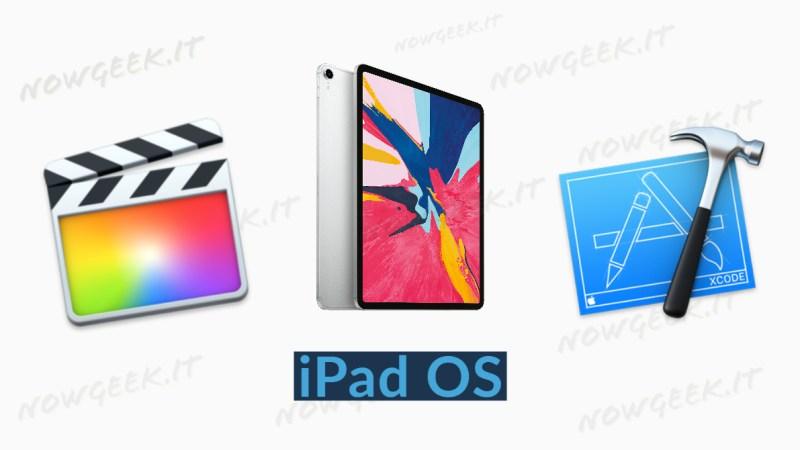 Final Cut e Xcode prossimamente su iPad OS