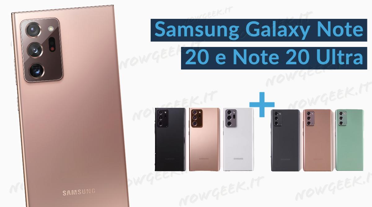 Samsung Galaxy Note20 e Note20 Ultra i dispositivi che rivoluzionano il modo di lavorare e divertirsi