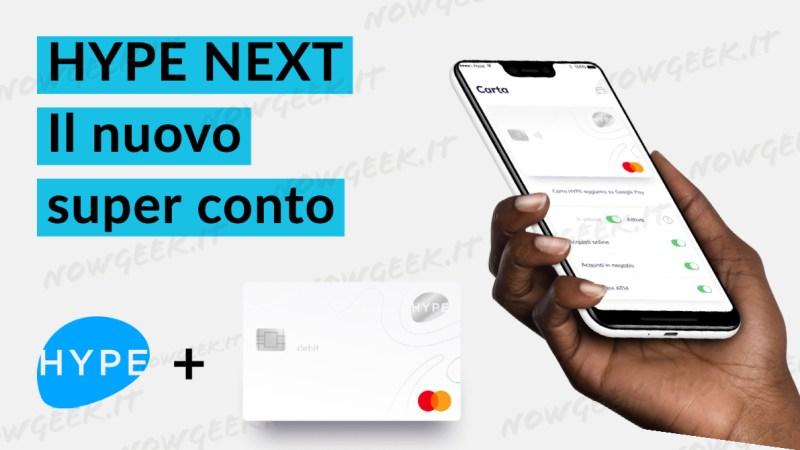 HYPE Next, la nuova carta per superare i limiti e 20€ gratis