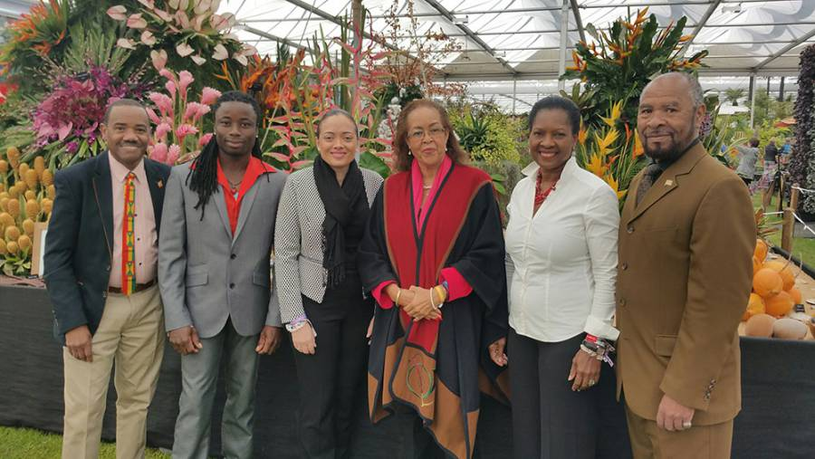 Grenada TEAM AT RHS Chelsea Flower Show 2016
