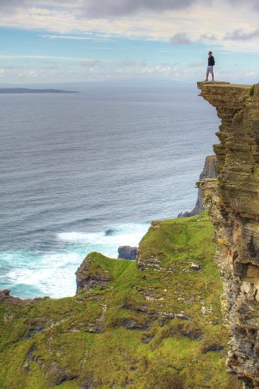 Adam on the Cliffs of Moher, Ireland