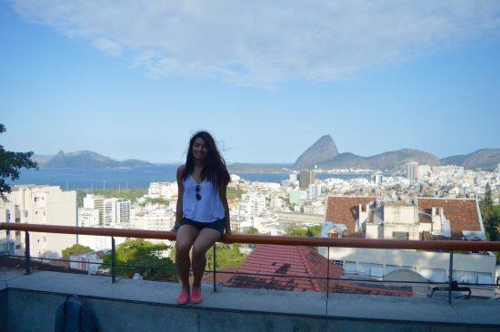 Paula takes in Rio de Janeiro