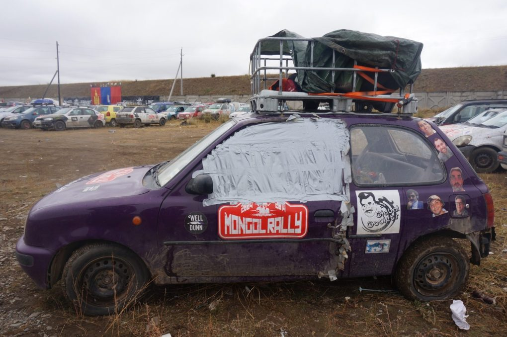Auto Goulet at the finish line in Ulan Bataar, Mongolia