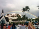 Rainbow over the luau