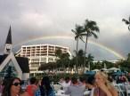 Rainbow over the luau
