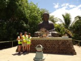 Us in front of the Giant Buddah Statue