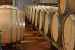 Barrels in the basement of Castello di Rada