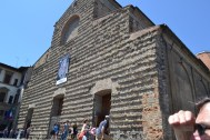 Outside the Medici family's private church.