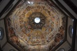 The ceiling of the duomo's dome